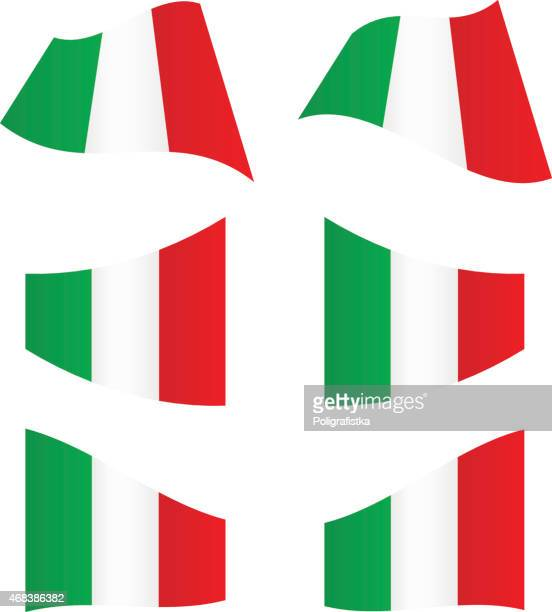 Waving flags of Italy