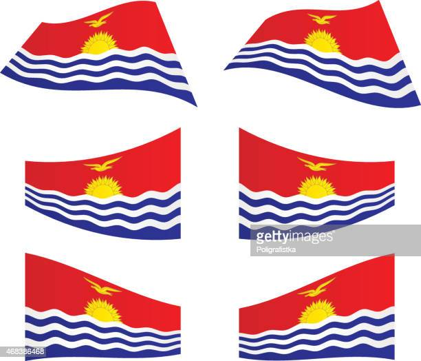 Waving flags of Kiribati