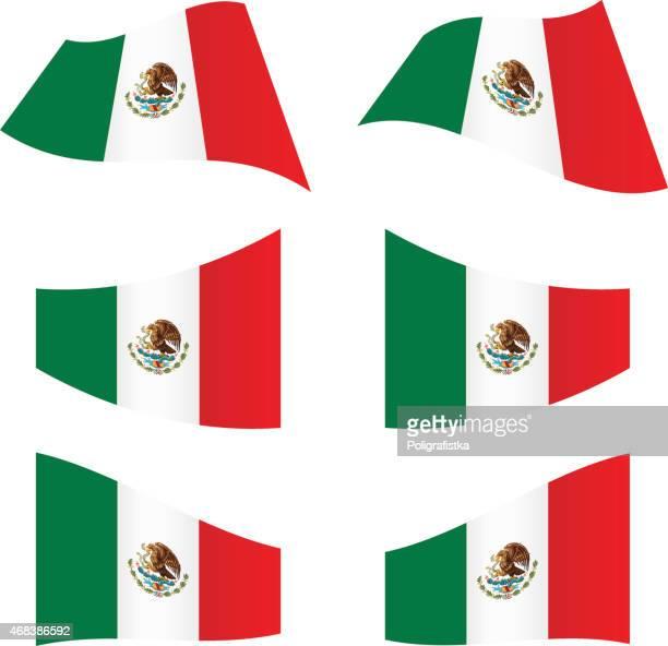 Banderas de México agitando
