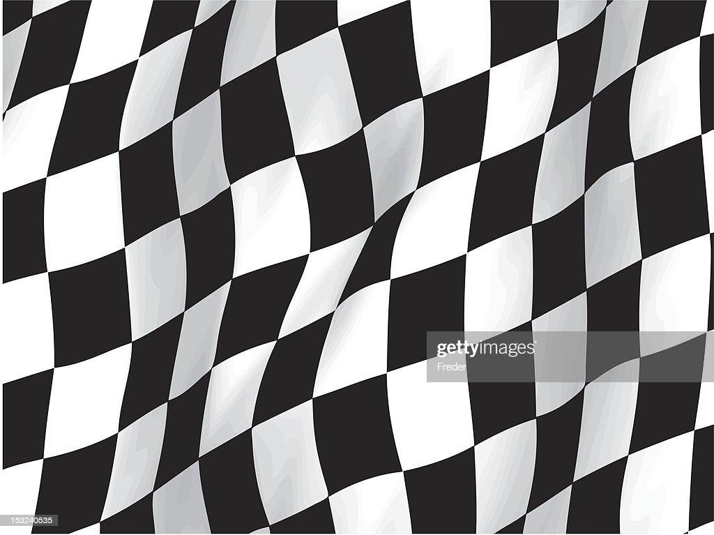 wavy checker flag pattern (vector)
