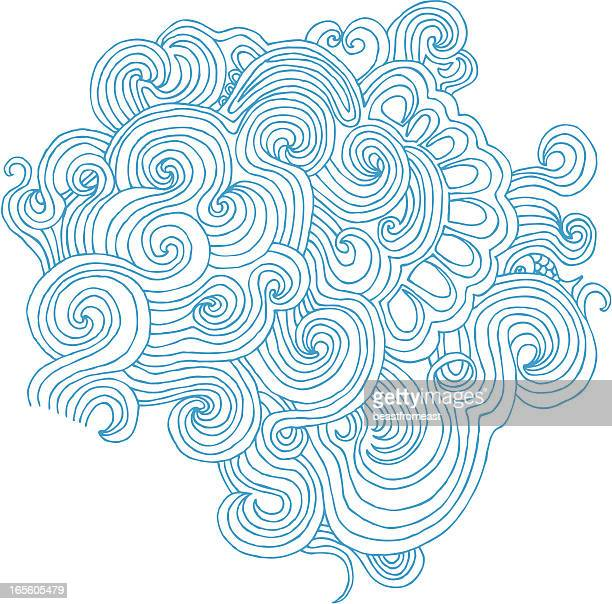 Wavy doodle isolated on white