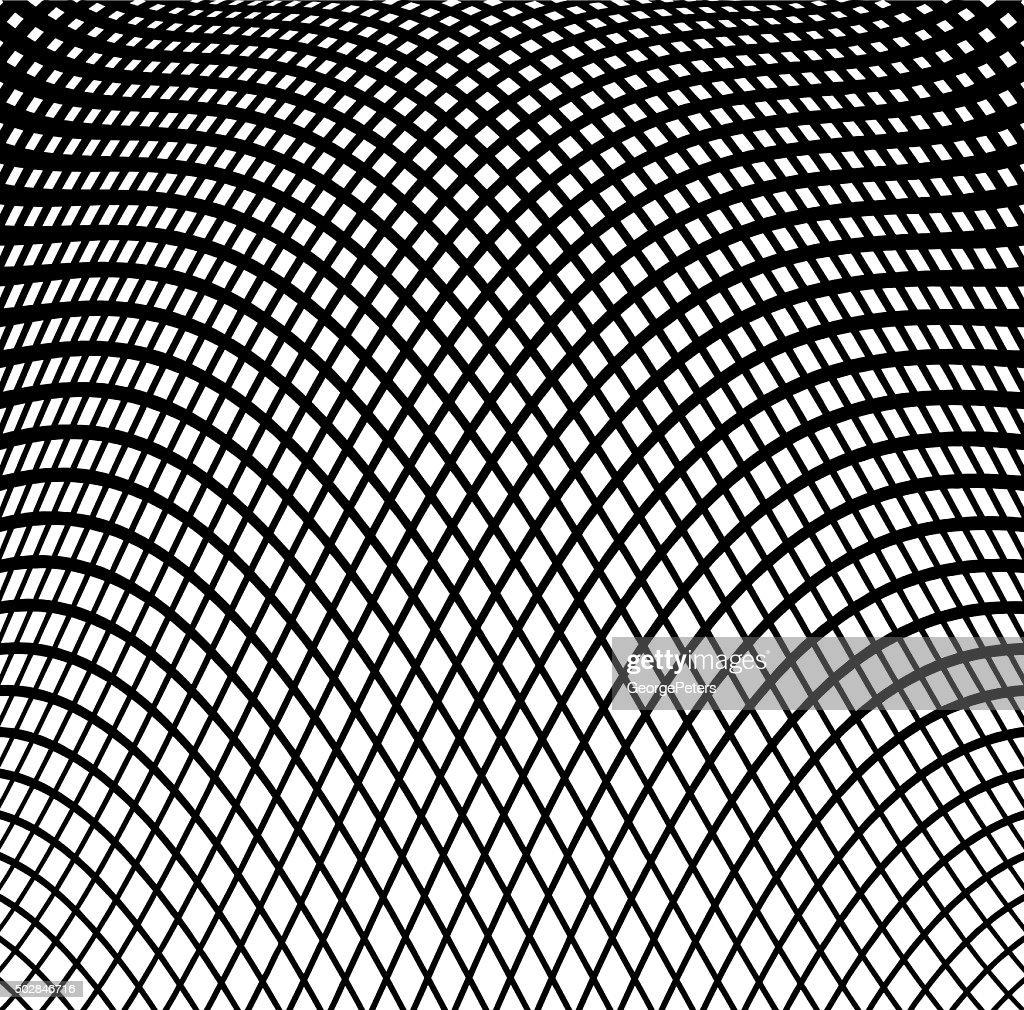 Wavy Grid Halftone Pattern Background