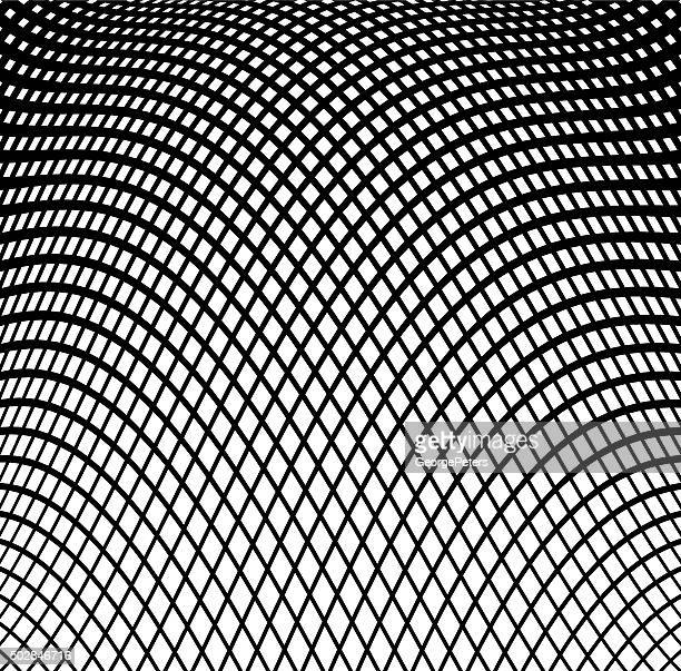 wavy grid halftone pattern background - stretched image stock illustrations, clip art, cartoons, & icons