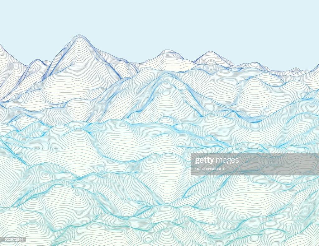 Wavy linear landscape