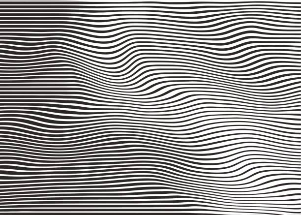 wavy, rippled halftone pattern abstract background - melting stock illustrations