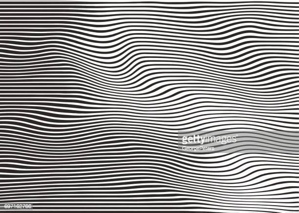 wavy, rippled halftone pattern abstract background - line art stock illustrations