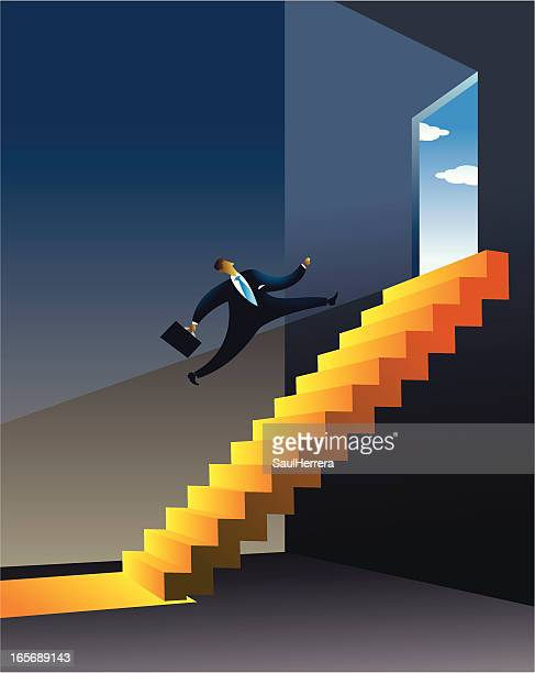 way out to financial problems - glühend stock illustrations