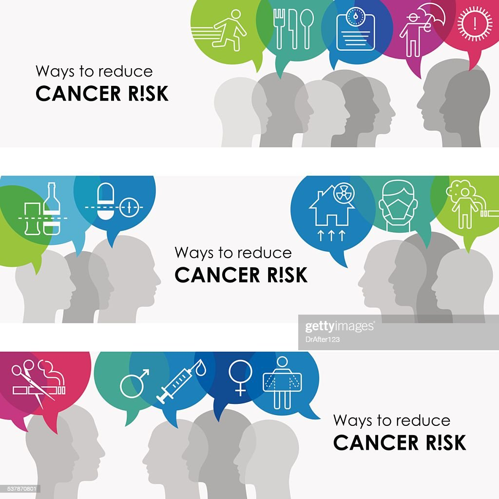Ways To Reduce Cancer Risk Banners