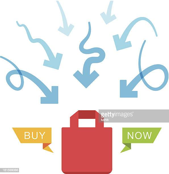 ways to sales increase - goodie bag stock illustrations, clip art, cartoons, & icons