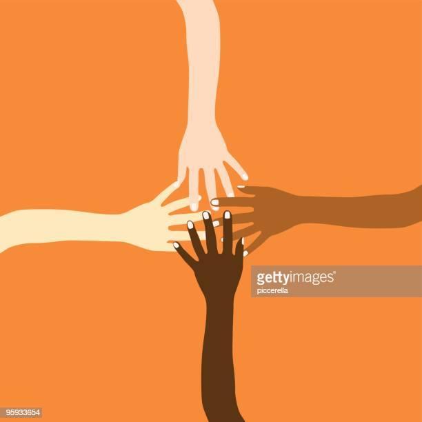 bildbanksillustrationer, clip art samt tecknat material och ikoner med we are all the same! - etnicitet