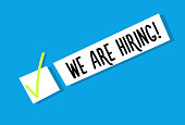 We are hiring background message. Employment recruitment. Job opportunity. Vector illustration