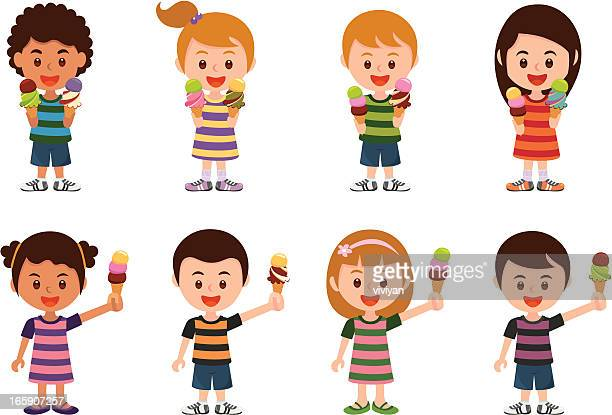 we love ice cream! - scoop shape stock illustrations, clip art, cartoons, & icons