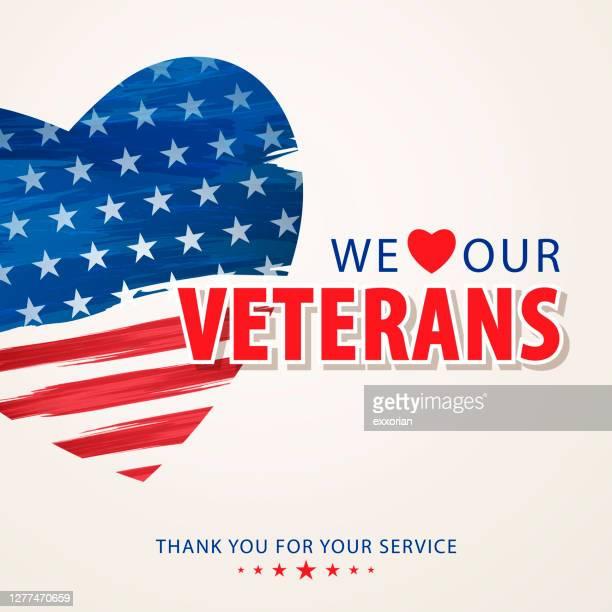 私たちは退役軍人を愛する - 米退役軍人の日点のイラスト素材/クリップアート素材/マンガ素材/アイコン素材