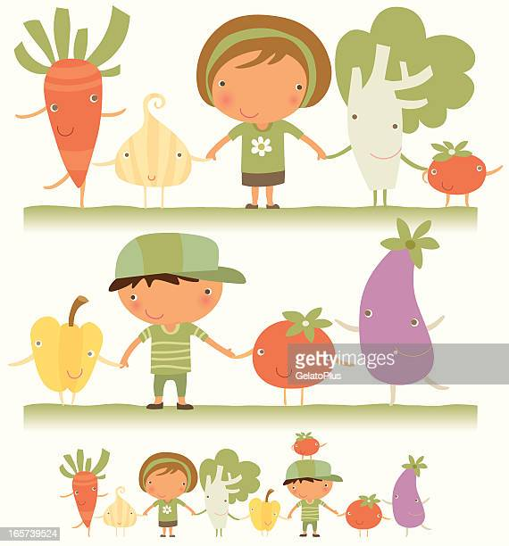 we love vegetable - healthy eating stock illustrations, clip art, cartoons, & icons