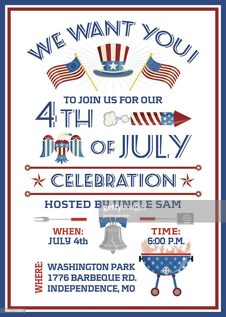 We Want You 4th of July Celebration