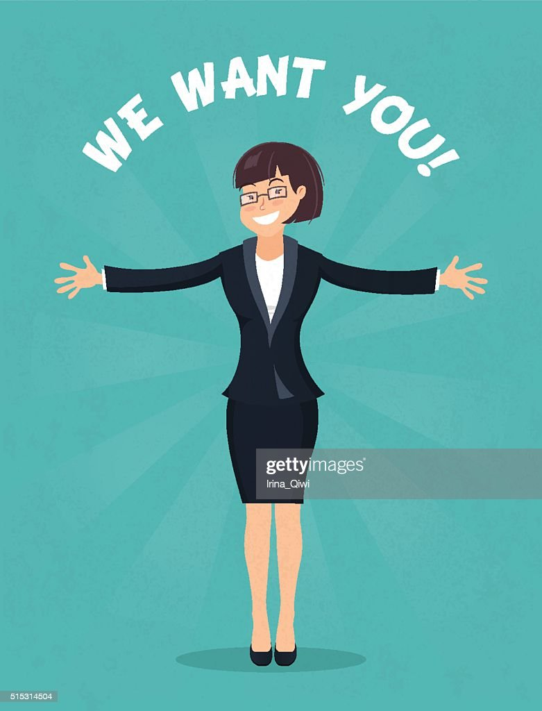 We want you concept, hr