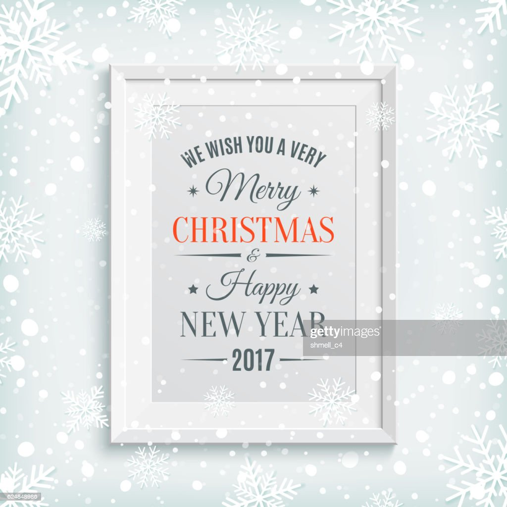 We Wish You Merry Christmas and Happy New Year 2017.