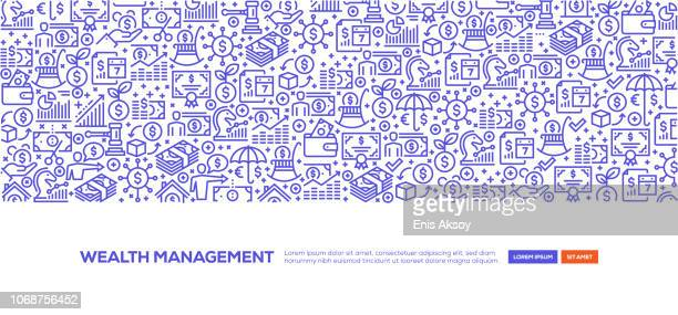 wealth management banner - hedge fund stock illustrations, clip art, cartoons, & icons