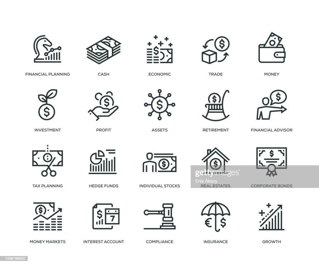 Wealth Management Icons - Line serie : Stockillustraties