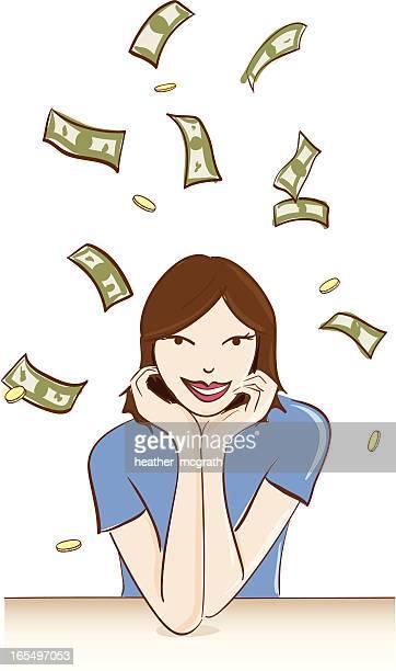wealth - money to burn stock illustrations, clip art, cartoons, & icons