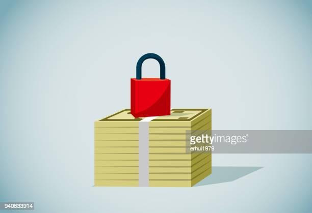 wealth - guarding stock illustrations