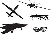 Weapon. Drones set
