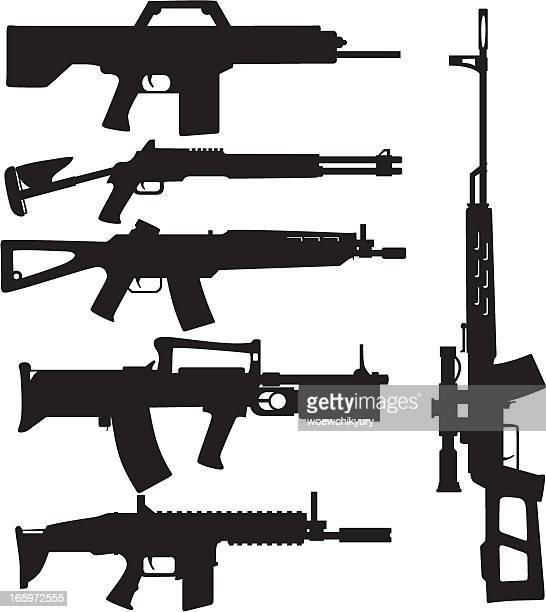 Silhueta de arma vector