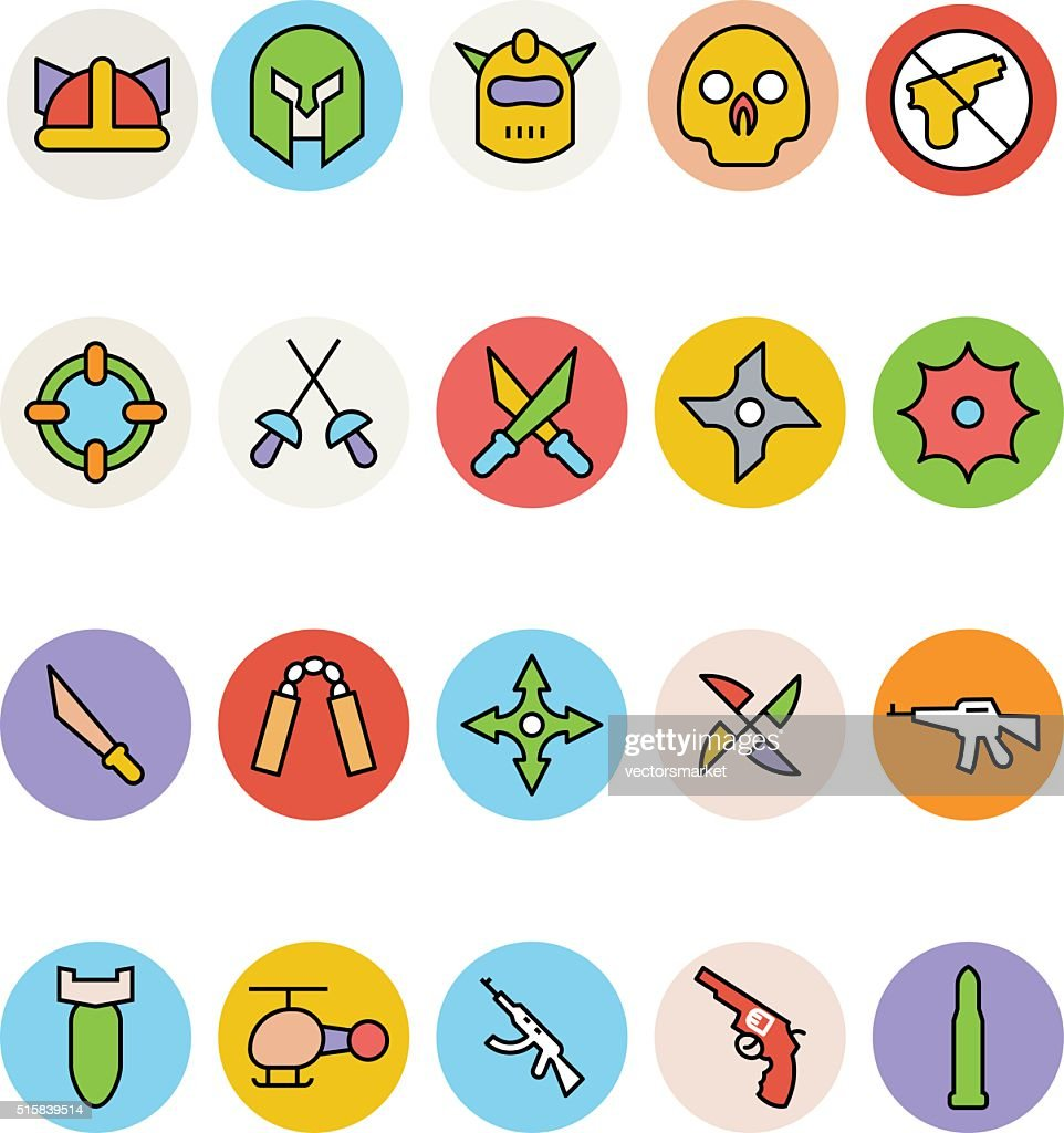Weapons Vector Icons 3