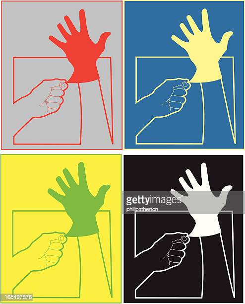 'wear rubber gloves' sign - washing up glove stock illustrations, clip art, cartoons, & icons