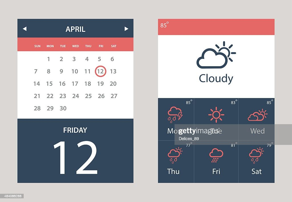Weather and Calendar Widget