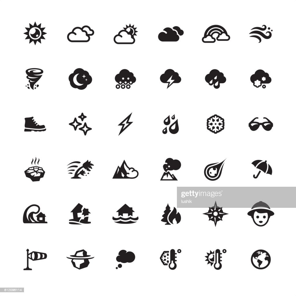 Weather and Climate icons set : stock illustration