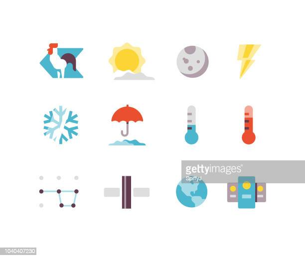 Weather and Space Flat icons