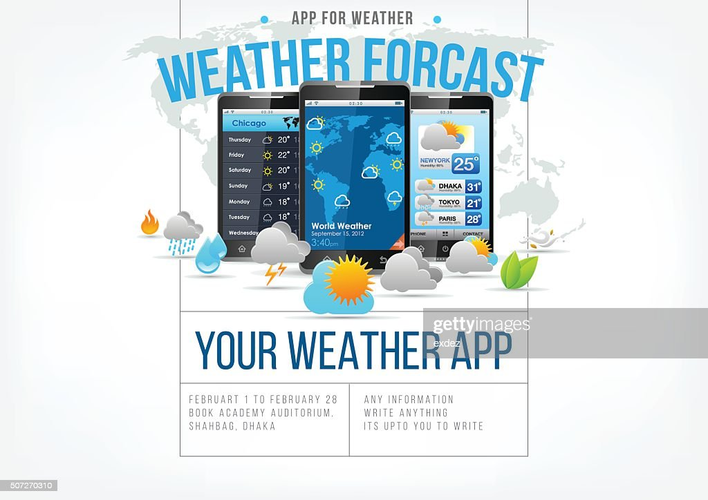 Weather app design page