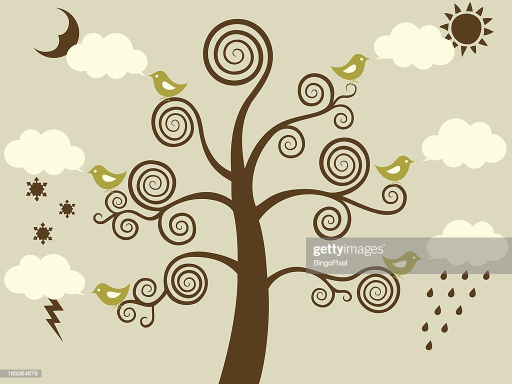 Weather Birds & Tree