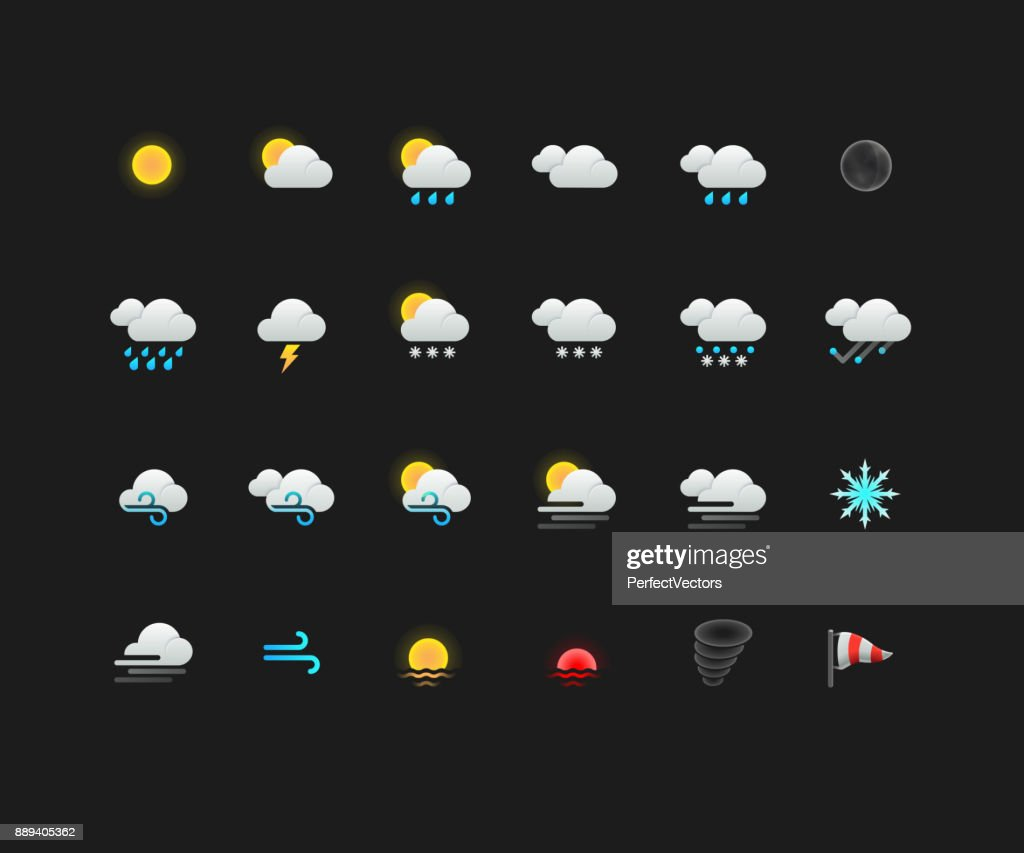Weather Colorful Icons for web and mobile apps
