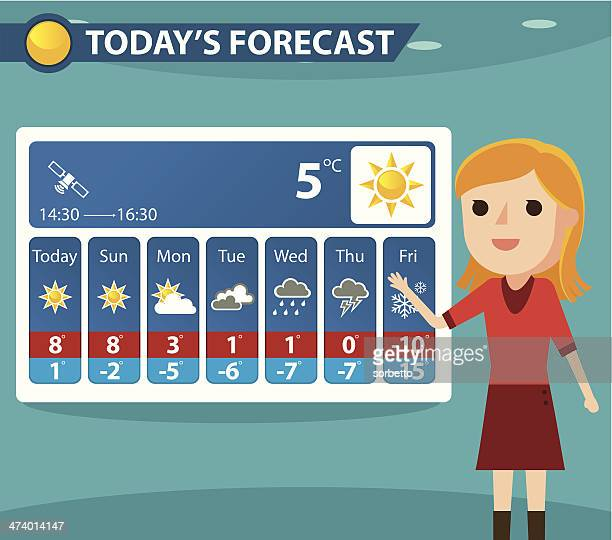 weather forecaster - meteorology stock illustrations
