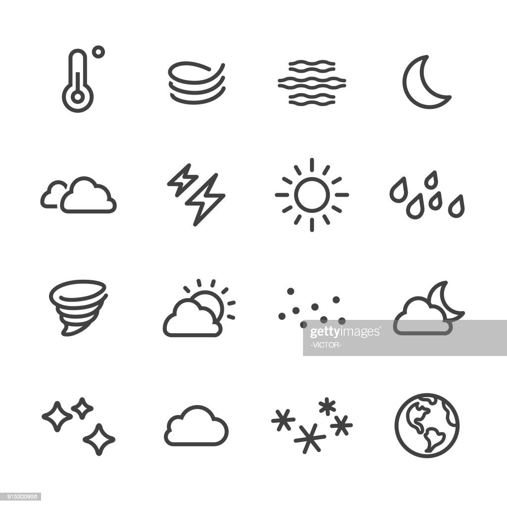 Weather Icon - Line Series