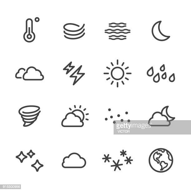 weather icon - line series - blizzard stock illustrations