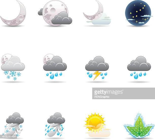 Weather Icon Set   Elegant Series