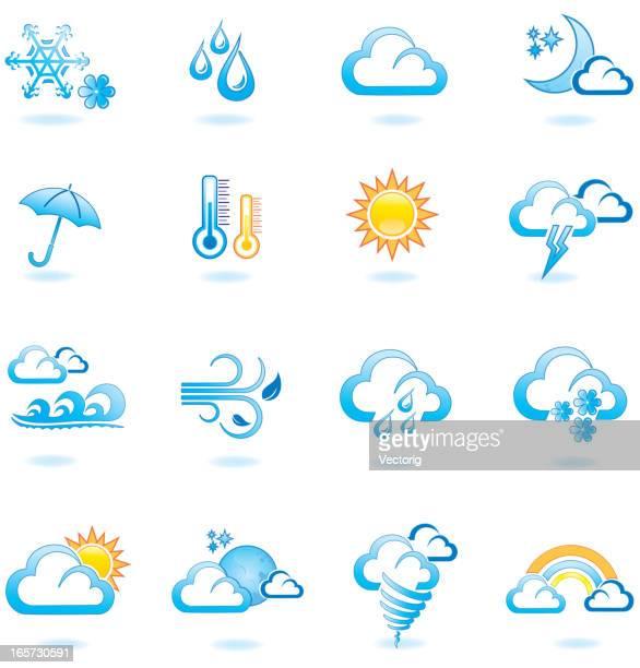 weather icon set - hurricane stock illustrations, clip art, cartoons, & icons