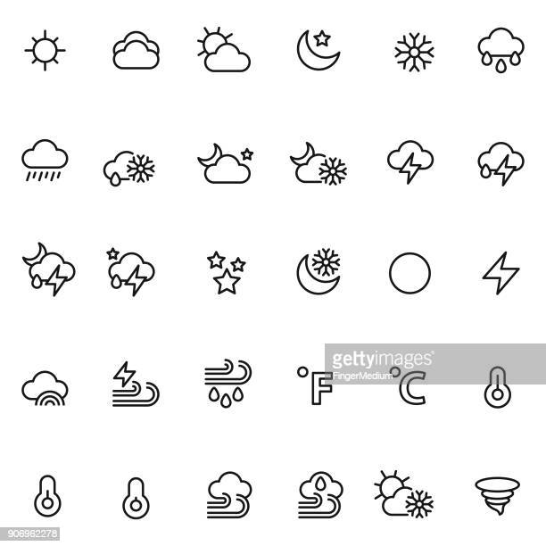 weather icon set - humidity stock illustrations, clip art, cartoons, & icons