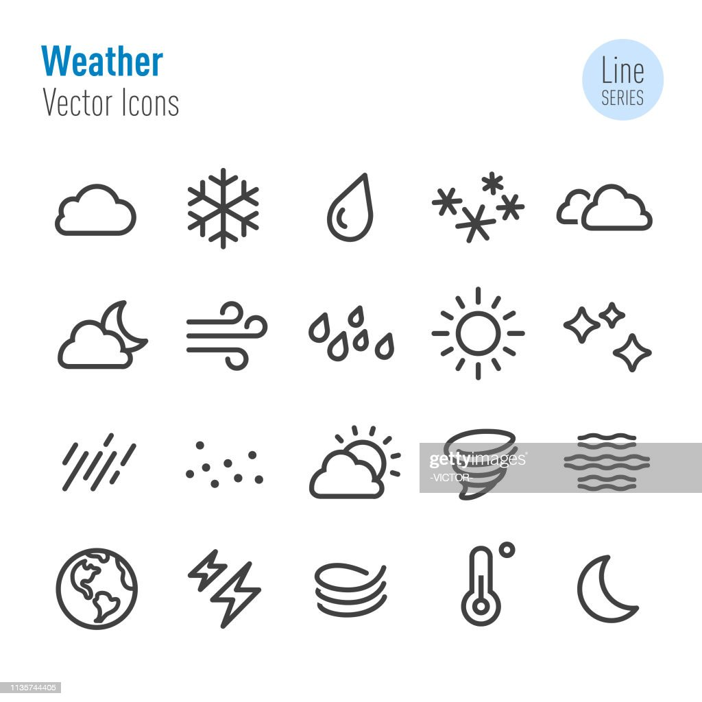 Weather Icon - Vector Line Series : stock illustration