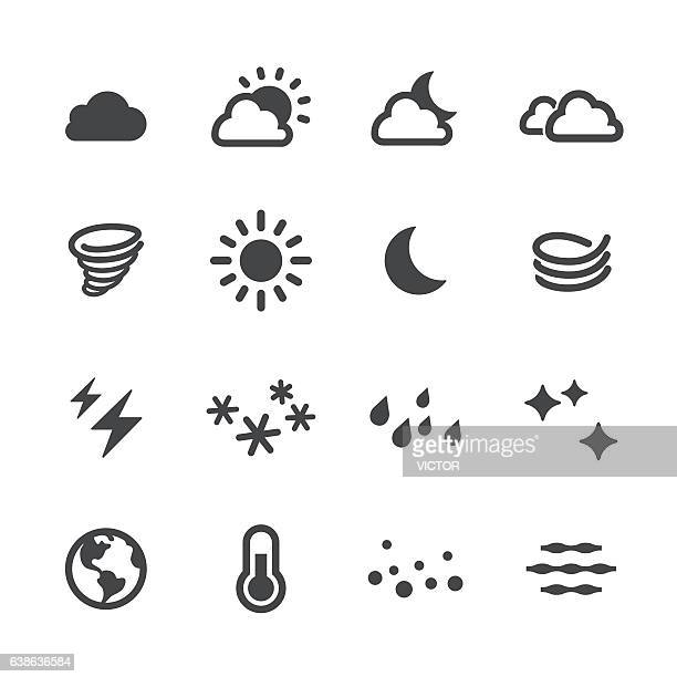 weather icons - acme series - blizzard stock illustrations
