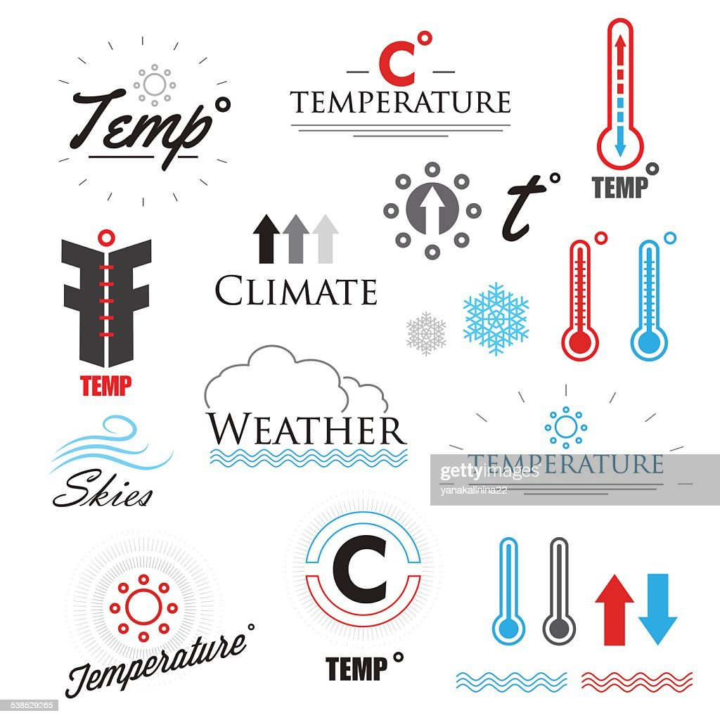 Weather icons and logos