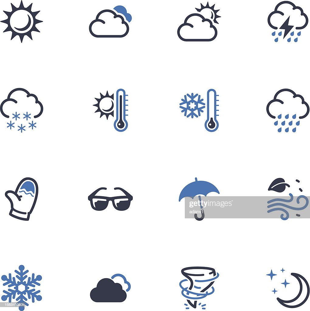 Weather Icons - Blue Series