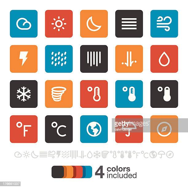 weather icons | brooklyn series - monsoon stock illustrations, clip art, cartoons, & icons