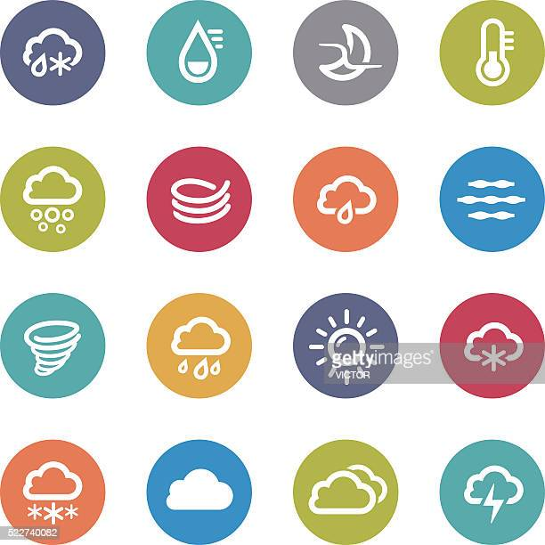 weather icons - circle series - sleet stock illustrations, clip art, cartoons, & icons