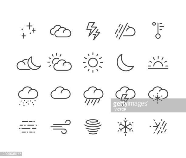 weather icons - classic line series - day stock illustrations