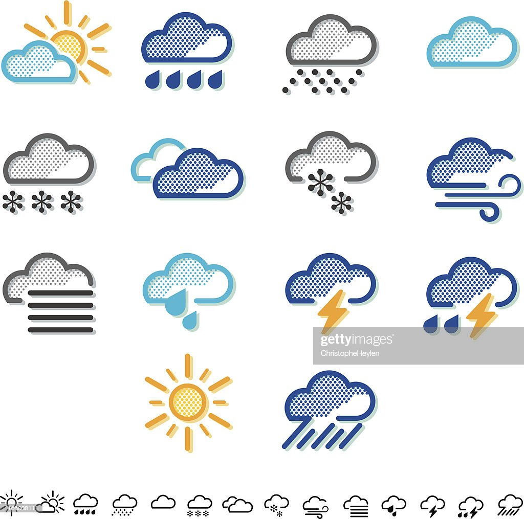 Weather Icons Colour Vector Art | Getty Images