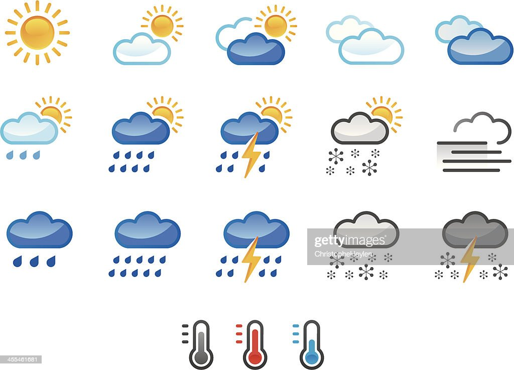 weather icons colour